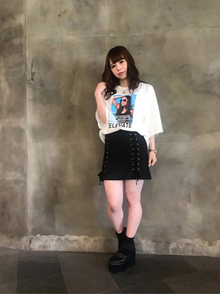 Cecil Mcbee女装品牌2019春夏新款小清新韩版短袖t恤百搭学生宽松休闲裙套装