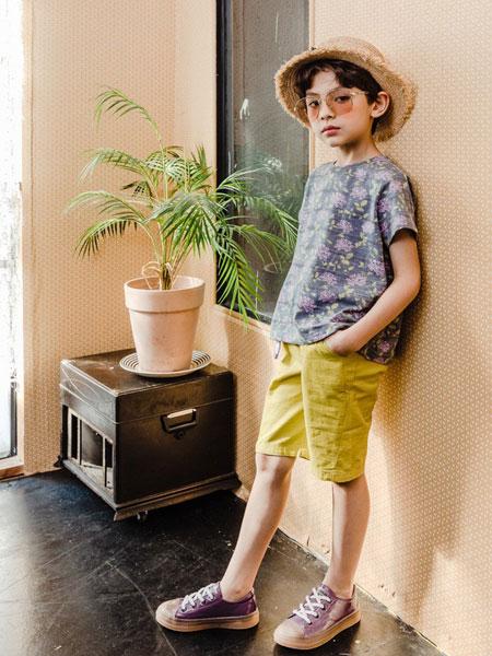 卡拉美童装品牌2019春夏新品洋气两件套潮