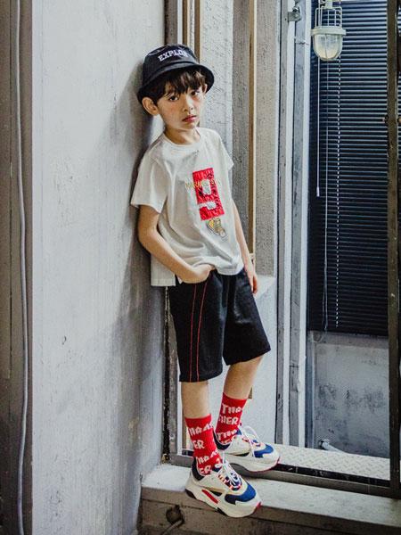 卡拉美童装品牌2019春夏新款童装儿童圆领上衣