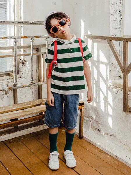 卡拉美童装品牌2019春夏新款中大童休闲百搭纯棉短袖T恤