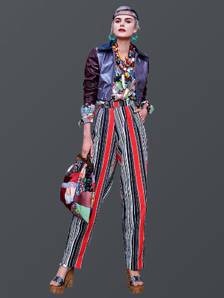 Duro Olowu杜罗·奥罗伍女装品牌2019春夏新款时尚高腰显瘦复古印花休闲裤