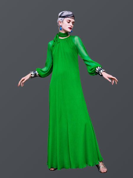 Duro Olowu杜罗·奥罗伍女装品牌2019春夏新款复古时尚长款修身礼服连衣裙