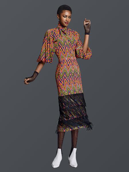 Benjamin Cho本杰明·曹女装品牌新款时尚高端气质复古收腰显瘦连衣裙