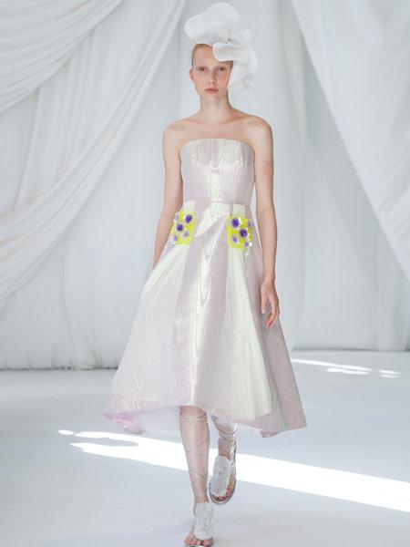 Ermanno Scervino艾尔玛诺・谢尔维诺女装品牌2019春夏新款小礼服优雅显瘦晚礼服聚会年会礼服洋装连衣裙