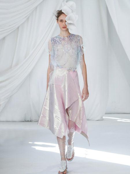 Ermanno Scervino艾尔玛诺・谢尔维诺女装品牌2019春夏新款时尚蕾丝礼服裙