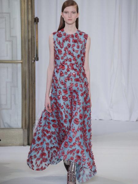 Emma Cook艾玛·库克女装品牌新款韩版气质休闲无袖印花连衣裙