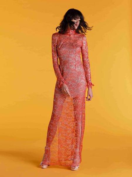 Emilio de la Morena埃米利奥·德拉莫雷纳女装品牌2019春夏新款时尚复古性感修身气质连衣裙