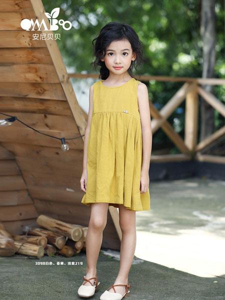 安尼贝贝onnabobo童装品牌2019春夏洋气儿童雪纺公主裙纯棉