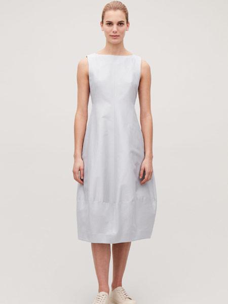 Beams Boy女装品牌2019春夏新款时尚休闲无袖连衣裙