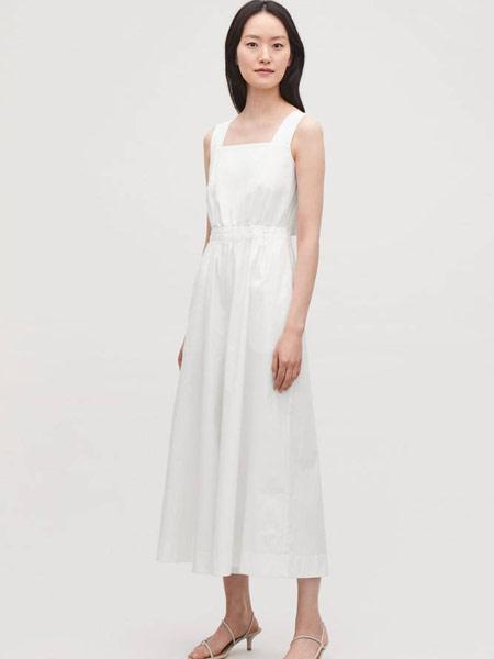Beams Boy女装品牌2019春夏新款 白色吊带松紧腰连体阔腿裤