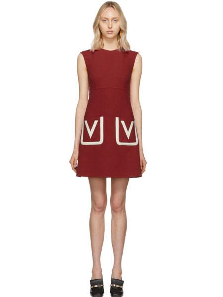 Matchless London女装品牌2019春夏新款时尚气质潮牌撞色口袋无袖连衣裙