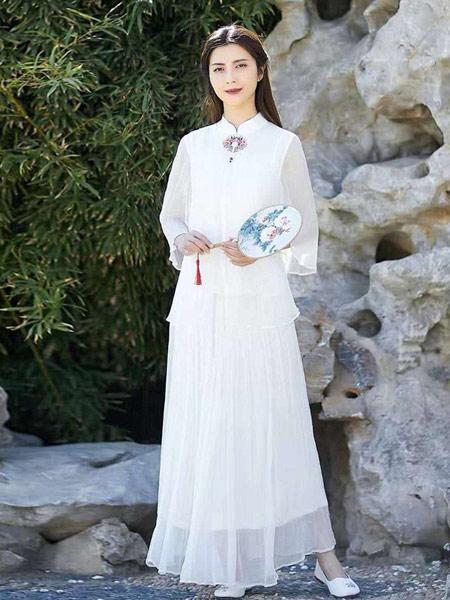 无杂记女装品牌2019春夏新款汉服改良唐装中国风古装中式茶服很仙的雪纺上衣女显瘦雪纺衫