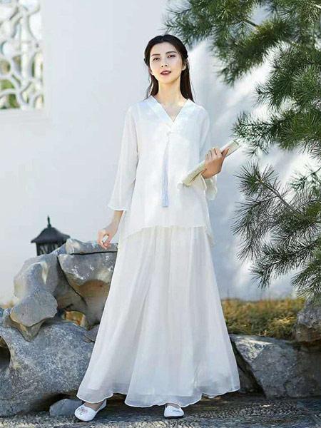 无杂记女装品牌2019春夏新款雪纺衫改良唐装中国风短上衣中式刺绣衬衫女宽松大码