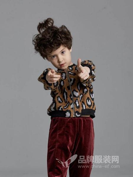 V-rules美式童装童装品牌2019春季时尚豹纹针织套头宽松毛衣裤子套装潮