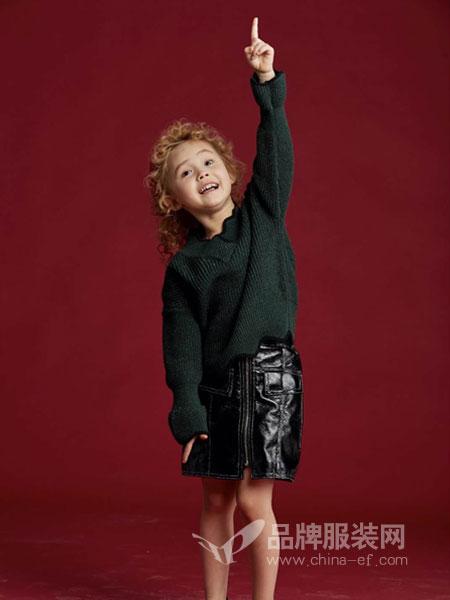 V-rules美式童装童装品牌2019春季新款女孩上衣儿童宽松毛衣套头
