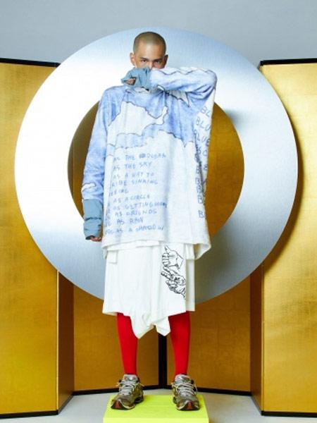 Bernhard Willhelm本哈德·威荷姆休闲品牌2019春夏新款时尚潮流简约休闲宽松长袖T恤