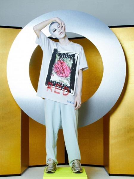 Basso&Brooke百索&布郎蔻男装品牌2019春夏新款时尚潮流休闲宽松短袖T恤