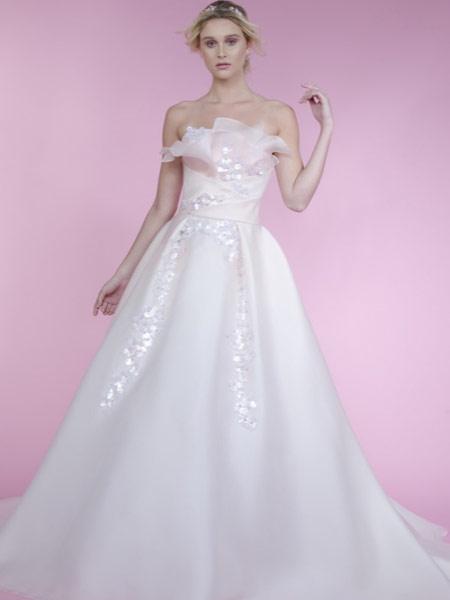 Angel Sanchez安吉尔·桑切斯女装品牌2019春夏新款齐地显瘦修身简约礼服