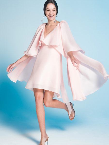 Angel Sanchez安吉尔·桑切斯女装品牌2019春夏新款显瘦个性气质中长款裙子时尚潮流修身收腰连衣裙
