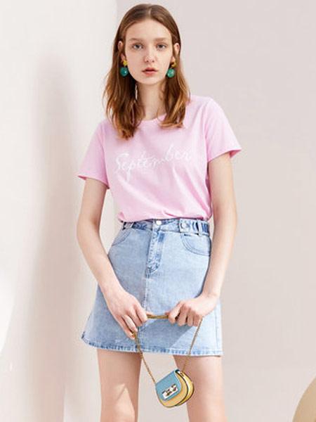 拉夏贝尔女装品牌2019春夏新款高腰显瘦半身裙韩版学生复古a字牛仔短裙