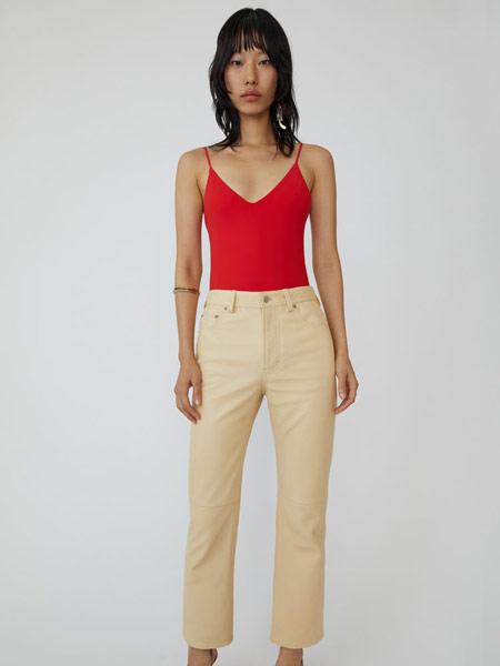 Bruno Pieters布鲁诺·皮特斯女装品牌2019春夏新款时尚低腰直筒九分牛仔裤