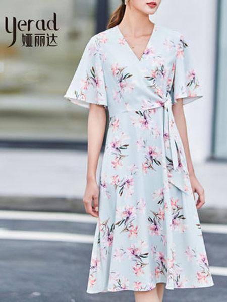 娅丽达女装品牌2019春夏新款流行汉元素古风中国风裙子
