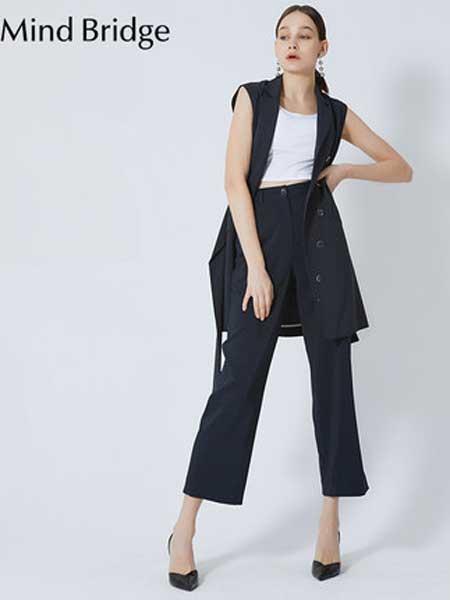 Mind Bridge休闲品牌2019春夏新款 时尚宽松直筒休闲裤