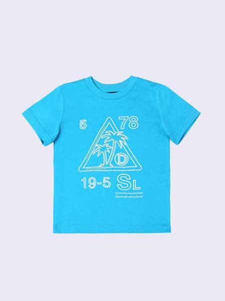 Baby Milo童装品牌2019春夏新款时尚男童纯棉韩版时尚圆领短袖T恤