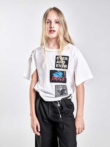 Diesel Kids迪赛童装童装品牌2019春夏新款时尚休闲宽松百搭圆领短袖T恤