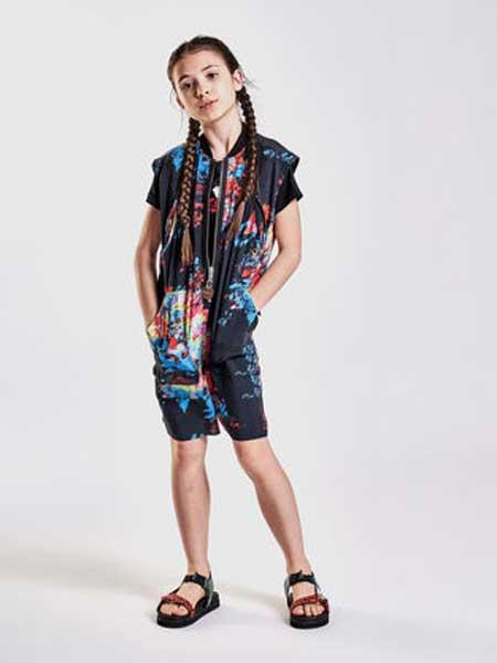 Diesel Kids迪赛童装童装品牌2019春夏新款时尚女童连衣裤立领无袖