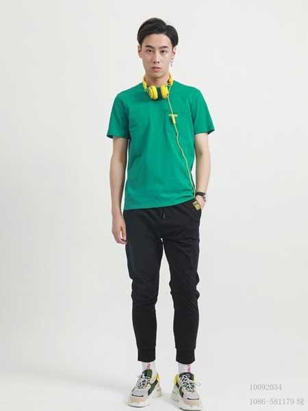 部落本色 GF男装品牌2019春夏新款韩版时尚潮流百搭圆领短袖T恤