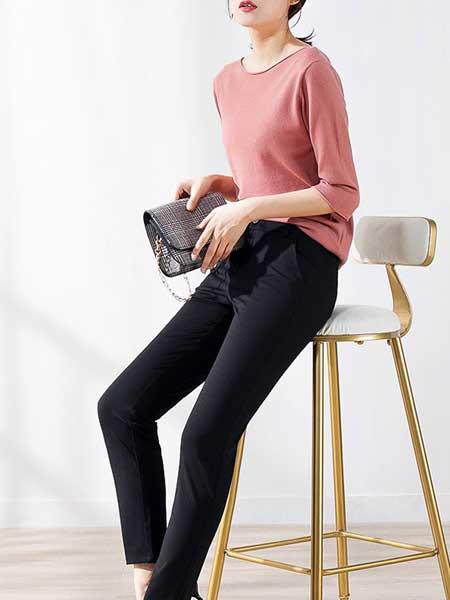 戈洛瑞丝女装品牌2019春夏新款西裤休闲弹力修身小直筒韩版时尚显瘦小脚铅笔裤
