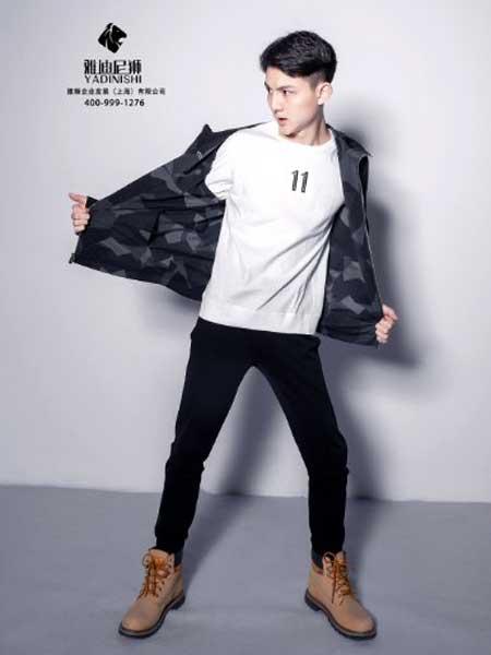 雅迪尼狮男装品牌2019春夏新款修身紧身黑色弹力九分小脚裤纯黑休闲长裤子