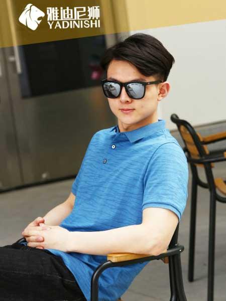 雅迪尼狮男装品牌2019春夏新款韩版时尚休闲百搭翻领短袖T恤