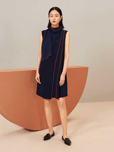 OVV女装品牌2019春夏新款时尚不对称无袖直筒连衣裙