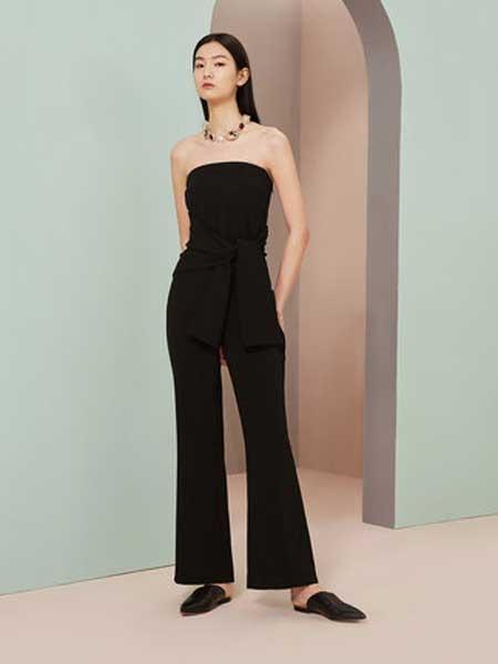 OVV女装品牌2019春夏新款时尚抹胸荷叶边收腰连体裤