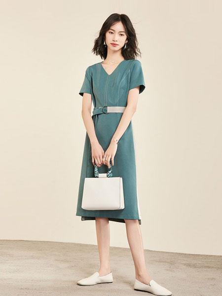 梵希蔓女装品牌2019春夏新款连衣裙短袖中气质