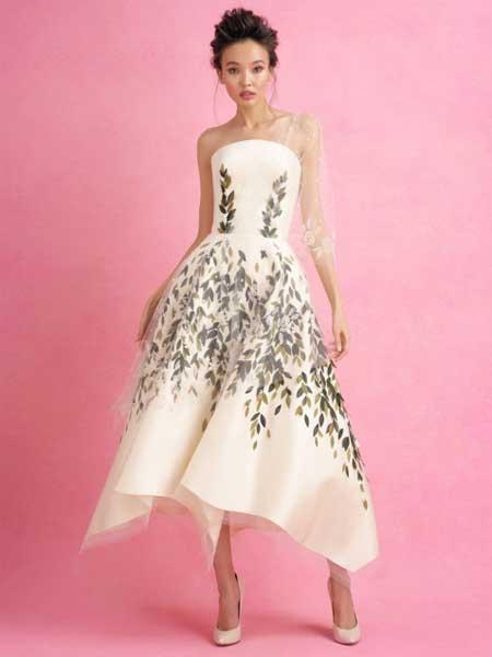 Iris van Herpen艾里斯・范・荷本女装品牌2019春夏新款气质名媛收腰褶皱大摆裙