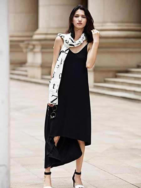 JZ secret女装品牌2019春夏新款收腰显瘦V领长款吊带长款连衣裙