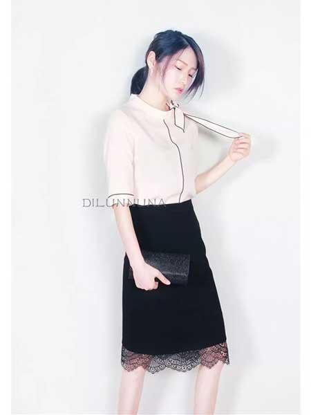 帝伦奴那女装品牌2019春夏新款时尚通勤韩版雪纺衫