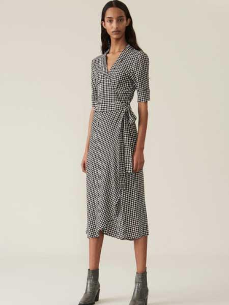 Elpizo女装品牌2019春夏新款时尚长裙气质高腰收腰修身显瘦长款