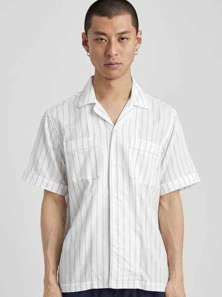 Saturdays NYC男装品牌2019春夏新款时尚潮流宽松百搭翻领短袖T恤