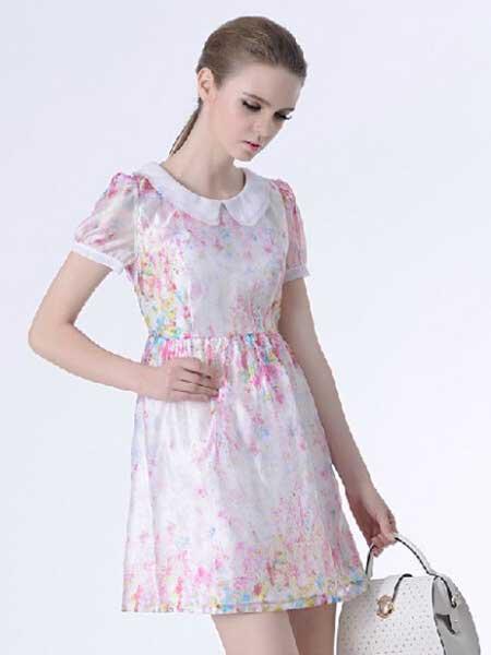 千羽斐女装品牌新款时尚修身新款显瘦连衣裙