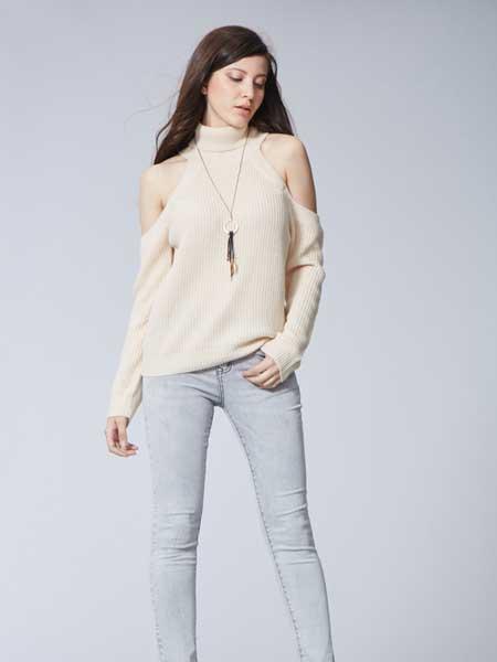 比利休闲品牌2019春夏新款韩版高腰显瘦紧身牛仔裤