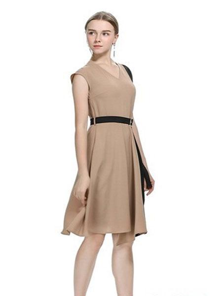 卡伊奴女装品牌2019春夏中长款修身休闲百搭纯色外套