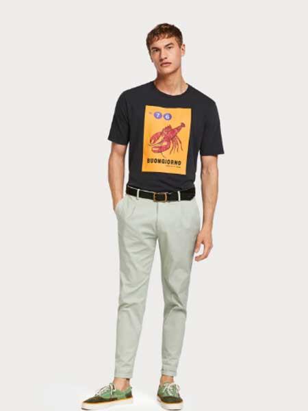 杰夫·斯泰伯男装品牌2019春夏新款韩版时尚休闲宽松百搭圆领短袖T恤