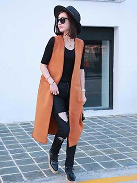 拉黑女装品牌2019春夏新款时尚百搭修身显瘦休闲马甲外套