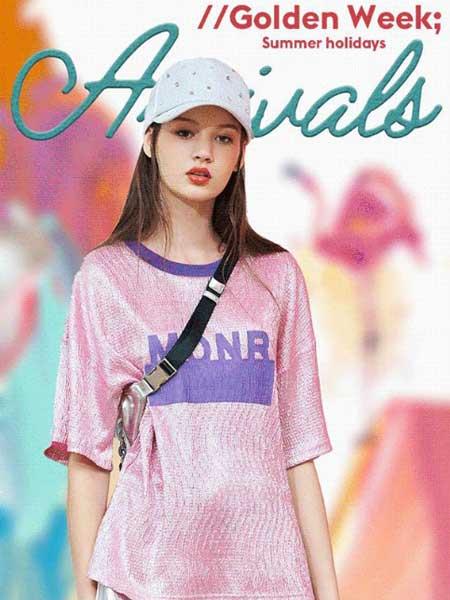 朵以女装品牌2019春夏新款休闲气质百搭洋气宽松短袖T恤