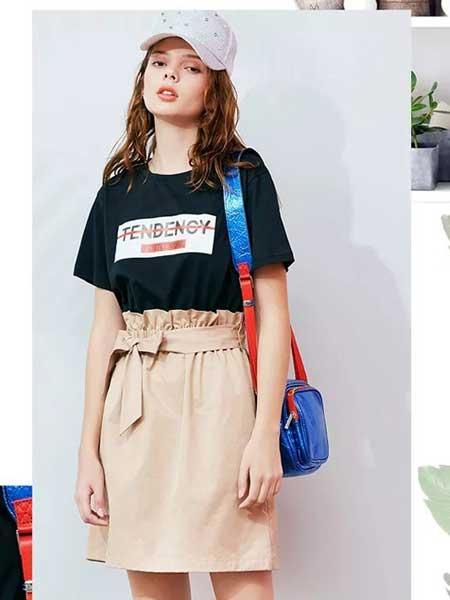 朵以女装品牌2019春夏新款时尚休闲假两件连衣裙