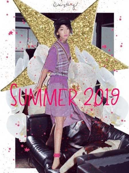 黛若女装品牌2019春夏新款气质V领无袖针织马甲小上衣